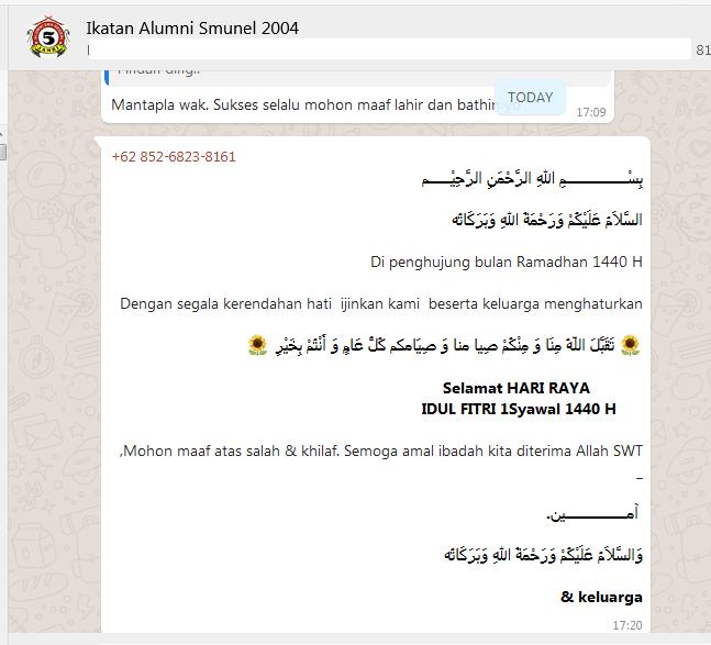 Contoh Kalimat Selamat Idul Fitri Lebaran Hari Raya
